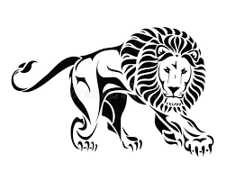 isolated tribal lion tattoo stock vector image 26503122