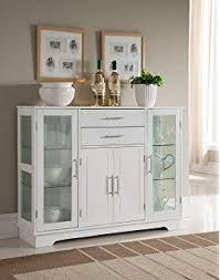 amazon com hutch style buffet white natural buffets u0026 sideboards