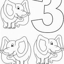 Birthday Candle Number 3 Coloring Page Bulk Color Number 3 Coloring Page