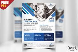 corporate business flyer template psd download download psd