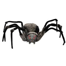 giant hairy spider with led eyes 4 5 ft halloween haunted house