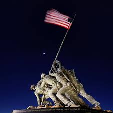 Flag Iwo Jima Iwo Jima Memorial At Dusk Metro Dc Photography