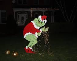 grinch yard decoration christmas yard etsy