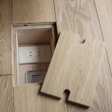 outlets embedded in the floor and i would probably leave