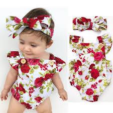 jumpsuit clothing newborn baby clothes flower jumpsuit romper bodysuit