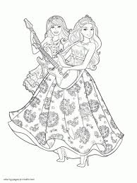 coloring page barbie princess barbie coloring pages the princess
