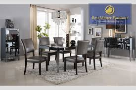 Mirrored Dining Room Furniture Mirrored Dining Sets Best Master Furniture
