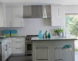 Contemporary Kitchen Backsplashes Kitchen Wonderful Kitchen Backsplash Tile White Tile Backsplash