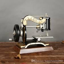home decor ornaments 2018 antique sewing machine ornaments desktop metal decor vintage