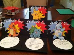 Homemade Birthday Invitation Cards Cricut Pokemon Pop Up Birthday Invitation Made This So Once The