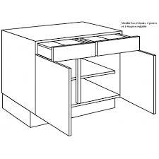 meuble bas cuisine 120 cm meuble bas de cuisine 2 portes 2 tiroirs largeur 120cm