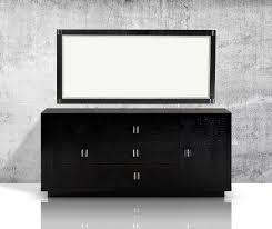 Black Lacquer Bedroom Furniture Bellagio Modern Black Crocodile Lacquer Dresser