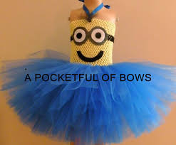Minion Tutu Dress Etsy Minion Tutu Dress 2 Eyes Despicable Apocketfulofbows Etsy