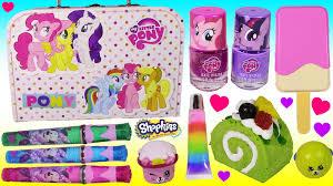 mlp treasure box pinkie pie nail polish kit popsicle hair brush