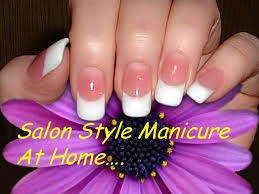how to do manicure at home perfect nails salon style manicure diy