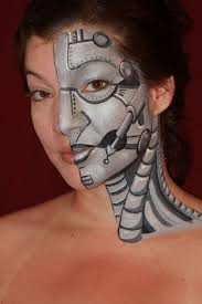 halloween paintings ideas 32 best face paint robots u0026 cyborgs ideas images on pinterest