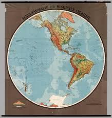 Map Of Western Hemisphere Western Hemisphere Physical David Rumsey Historical Map