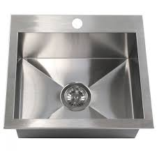 19 inch top mount drop in stainless steel single bowl kitchen