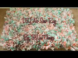 How To Make A Rag Rug From T Shirts Diy No Sew Rug Youtube