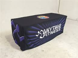 Custom Fitted Table Covers by 8ft Promotional Table Cover Custom Printed Promotional Table