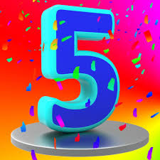 free stock photo of fifth anniversary means birthday party and 5th