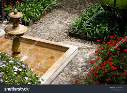 view top classical colonial style fountain stock photo 381944644