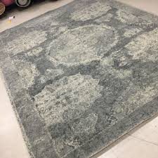 Pottery Barn Rugs New Pottery Barn Barret Printed Wool Rug 8 X 10 U0027 Gray Nwt 1049