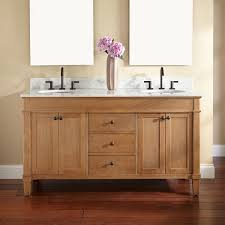 double sink vanity with makeup table brown laminated wooden glass