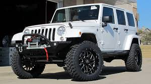black jeep wrangler unlimited custom kc trends showcase hostile sprocket black milled wheels w rbp