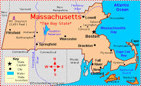 massachusetts on a map massachusetts facts map and state symbols enchantedlearning com