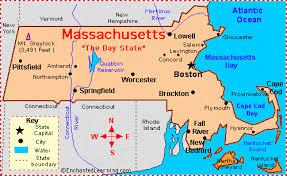 usa map key cities massachusetts facts map and state symbols enchantedlearning