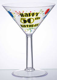 martini clear jumbo clear martini glass happy 50th birthday the party store