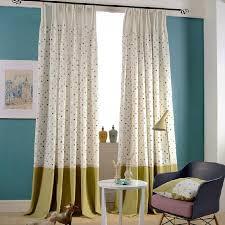 Polka Dot Curtains Quality White Green Linen Polka Dot Curtains For