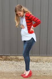 second maternity clothes denim with pops of stitch fix style top