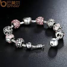 s charm bracelet bamoer antique silver charm bracelet
