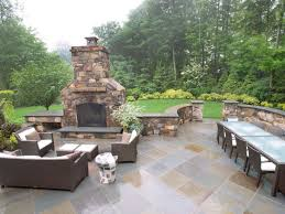 Ideas For Backyard Patio by Patio And Fireplace Outdoor Patio Ideas With Fireplace Pavilion