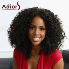 bohemian hairstyles for black women shaggy afro curly capless trendy black heat resistant synthetic