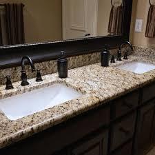 Bathroom Vanity Granite Countertop Could Be Ok Bathrooms Santa Cecilia Granite Countertops