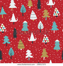 cute trees seamless christmas background cute christmas trees stock vector