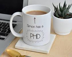 phd graduation gifts phd mug etsy