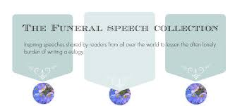 Example Of Thanksgiving Speech Free Sample Eulogies Funeral Speeches Eulogy Examples