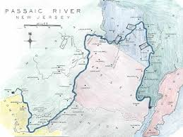 Map Of Hudson County Nj Passaic River Maps