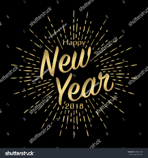 new year s day cards happy new year 2018 greeting card stock vector 739531420