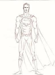 man steel drawing