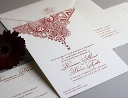 henna invitation henna inspired letterpress invitations asian wedding ideas