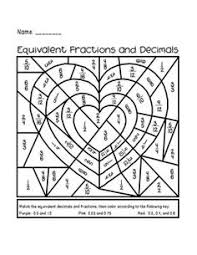 valentine u0027s day equivalent fractions activity great for 3rd 5th
