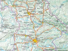 geographical map of germany geography of bavaria southern germany