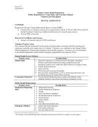 dental assistant resume dentist example sample job description