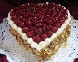 heart shaped items print cake photo