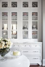 Sideboards Astounding White Hutch With Glass Doors Whitehutch - Kitchen display cabinet